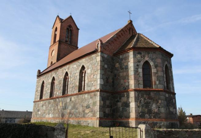 Dobropole Gryfińskie Kościół filialny pw Podwyższenia Krzyża Świętego